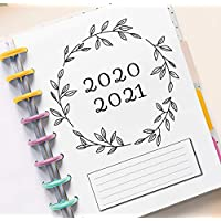2020 2021 Monthly Refills for 11-Disc Happy Planner (18 Month, Dated JULY 2020-DECEMBER 2021), Monthly Calendar for Big Happy Planner, 2020 Big Happy Planner Refills