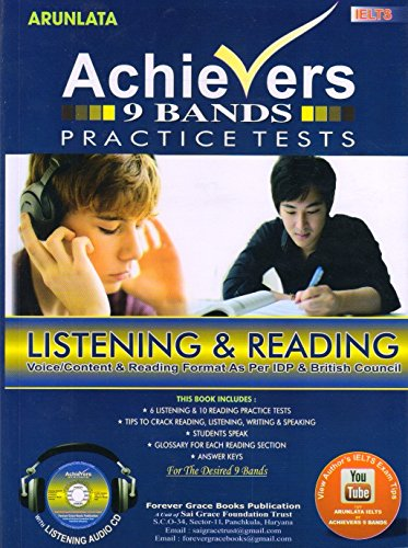 Achievers IELTS 9 Bands Listening and Reading Practice Set With Answer Keys