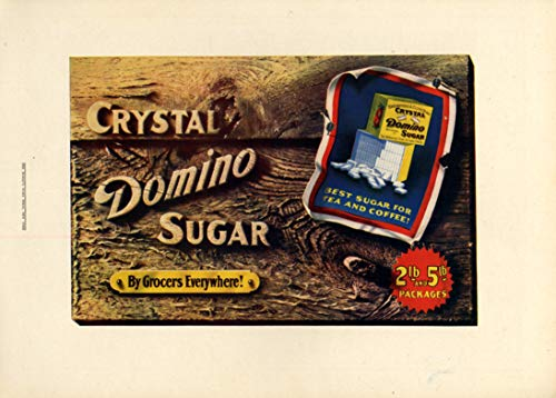 5 Lb Package - Crystal Domino Sugar by Grocers everywhere 2lb & 5lb packages! Ad 1909 CL