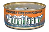 Natural Balance Chicken and Liver Pate Formula Cat Food (Pack of 24 6-Ounce Cans), My Pet Supplies