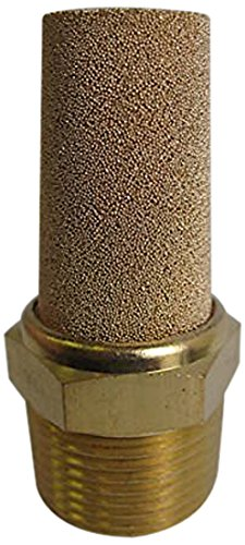MettleAir BSL-08 Pneumatic Muffler Filter, Sintered Bronze, 1'' BSPT (Pack of 10) by MettleAir