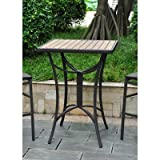 International Caravan Barcelona Aluminum 32'' Wicker Table in Chocolate