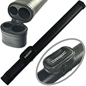 CUESOUL Two Tone 1 Butt X 1 Shaft Pool Cue Tube Case Billiard Canister (Black)