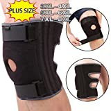 Knee Brace for Plus Size, 3XL,4XL,5XL,6XL, Wrap around to Fit Large Legs, Stabilizer Provide Strong Support for Pain Relief, ACL, MCL, Meniscus Tear, Arthritis, Jogging and Athletes by JointBrace