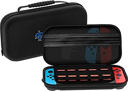 The Nintendo Switch Case [29 Game Holder] Premium Quality Protective Portable Hard Carry Case Pouch for Nintendo Switch Console & Accessories - Best Game Travel Case Black Pack Of 2