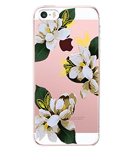 Rayure Motif Cover Case Coque Iphone5 5 SE iPhone Fleur Anti Etui Noir Housse Anti Choc 5S Transparente Gel TPU Simple de vanki Soft Blanc 5S Silicone Protection Souple 4 SE Housse x1gYwUYqd