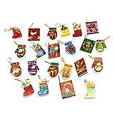 Lovind Christmas Tree Hanging Ornaments Decoration Cartoon Greeting Card Pendant Craft Accessories Christmas Tree Ornaments Party Supplies Gifts x Pack of 22 (Random Style)