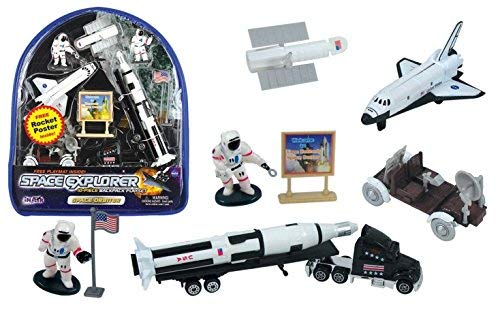 WowToyz Backpack Playset - Space Orbiter with Educational Rocket Poster from WowToyz