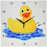 3dRose Rubber Duck Wall Clock, 10 by 10-Inch Review