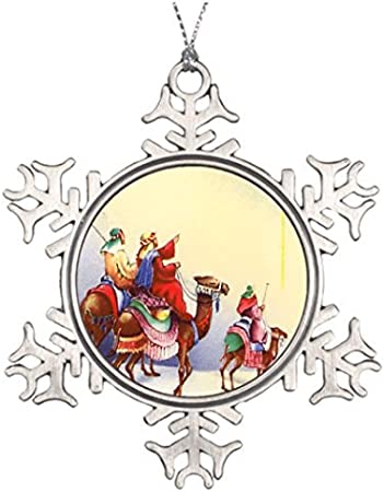 Cukudy Best Friend Snowflake Ornaments Remindful Christmas Trees Decorating Ideas Holiday Vintage Three Wise Men Amazon Co Uk Kitchen Home