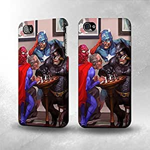 Apple iPhone 4 / 4S Case - The Best 3D Full Wrap iPhone Case - Old Hero Parody