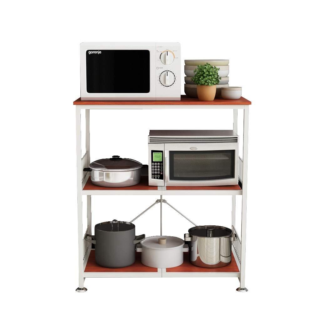 Kitchen shelf HUO Piso De Rack De Cocina De Microondas Rack De Almacenamiento De Almacenamiento De 3 Capas by Kitchen shelf (Image #1)