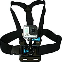 GOPRO CHEST MOUNT HARNESS With 3-Way Adjustment Base with Aluminum Thumbscrews From Nordic Flash All Nordic Flash Accessories are Fully Adjustable to Fit ALL GoPro Hero Cameras - GoPro HERO4, HERO3+ Black Edition, Silver, White, HERO3, HERO2...