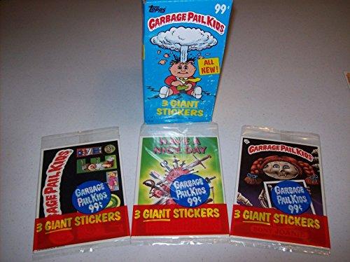 Stickers Pail Garbage (Garbage Pail Kids Giant Sticker Cards 1986 Unopened Packs)