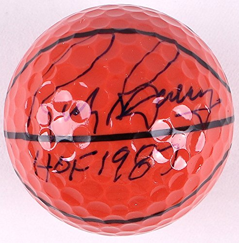 RICK BARRY SIGNED HOF 1987 MINI BASKETBALL GOLF BALL WARRIORS NY NETS ROCKET BOB FELLER MUSEUM HOLOGRAM