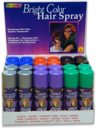 Assorted Spray in Hair Color (24 Pack - Only .29 Per Can) by Bewild