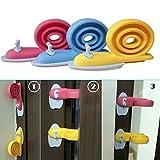 Kangkang@ 3 PCS Blue / yellow / Rose Soft Plastic Cartoon Snail Animal Shape Door Stopper Holder Baby Kids Safety Protector Doorstop