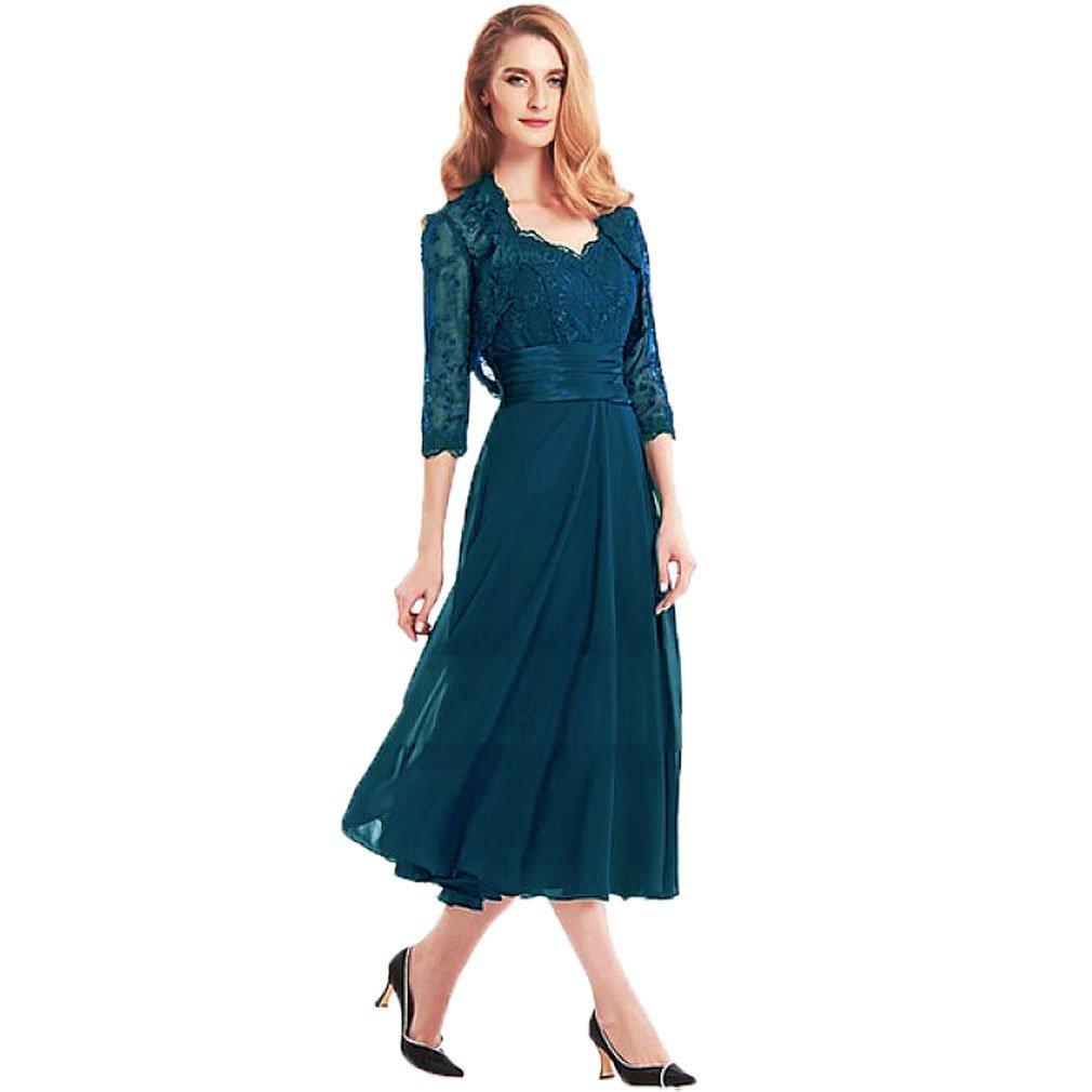 Fashionbride Women's Two Pieces Tea Length Chiffon Mother ...