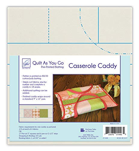 - June Tailor Quilt As You Go QAYG Casserole Caddy Natural