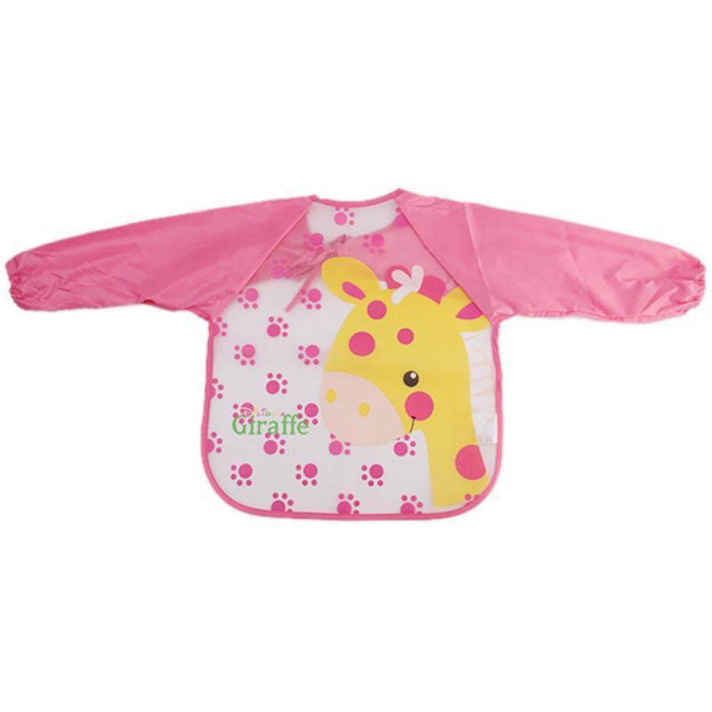Hengsong Kids Waterproof Long Sleeve Bib Apron Artist Painting Smocks (Pink) Mei_mei9 D-89