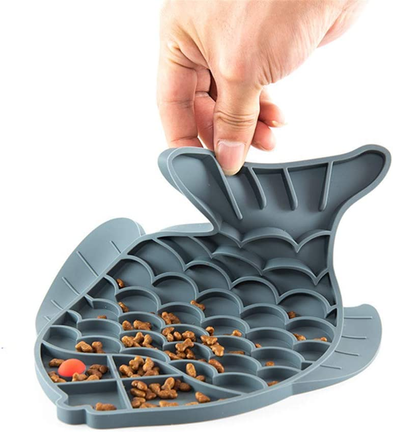 Pet Feeder Slow Bowl - Slow Feeder Dog Bowl,Cute Pad for Dog Lick, Dogs & Cats Slow Feeder Lick Mat, Feeding Dish,Pet Boredom Buster & Anxiety Relief, Perfect for Dog Food, Cat Food