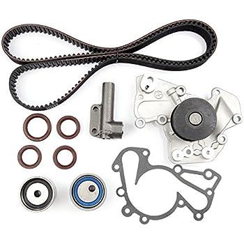 SCITOO New Timing Belt Water Pump Tensioner Kit Fits 2.5L 2.7L Kia Sportage Optima Hyundai Sonata Tucson Tiburon Santa Fe 24 Valve G6BA G6BV Delta Engine