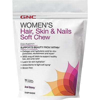 GNC Womens Hair, Skin Nails chew Acai Berry 60 chew