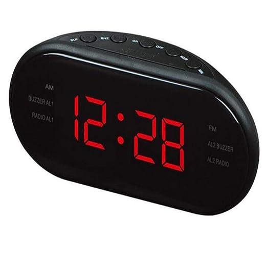 SKYyao Led Radio Despertador ElectróNico De Escritorio Reloj ...
