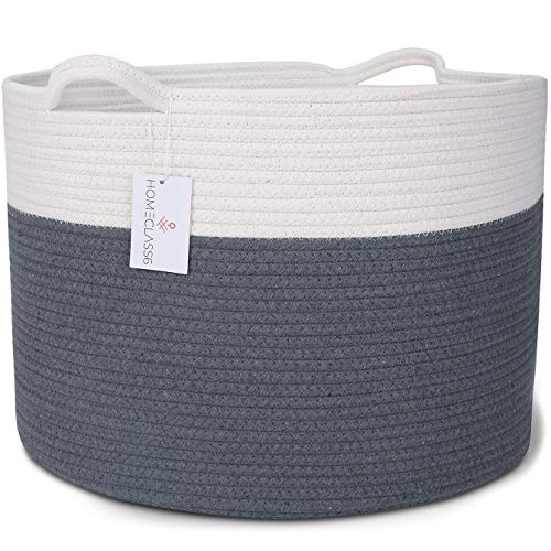 XXL Cotton Rope Woven Blanket Basket 20