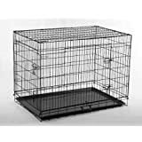 "BestPet 48"" Pet Folding Dog Cat Crate Cage Kennel w/ABS Tray LC"