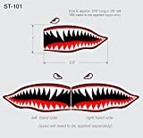 Flying Tigers shark teeth decals 1' t x 2.5'w x 2 SET