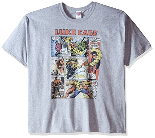 Vintage Sport Shirt (Marvel Men's Big-Tall Luke Cage Vintage Comic T-Shirt, Sport Grey, XXX-Large)