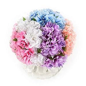 Mini Flowers Bouquet in bulk wholesale for Crafts Silk Daisy Artificial Rose Bouquet DIY Wedding Decoration Fake Flower Scrapbooking Flowers Party Birthday Home Decor 30pcs/lot 3.5cm (Colorful) 82