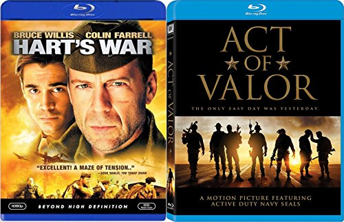 America's Bravest Act of Valor 2 Blu-Ray Bundle & Hart's War Double Feature Movie Bundle (Act Of Valor Bluray)