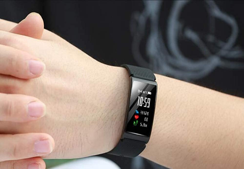 Bracelet À Puce Sports Couleur Écran Multifonctions pour Hommes Et Femmes Étanche GPS Montre Intelligente De Podomètre Traqueur Black