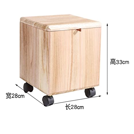 Magnificent Amazon Com Wooden Storage Stool Solid Wood Ottoman Footrest Caraccident5 Cool Chair Designs And Ideas Caraccident5Info