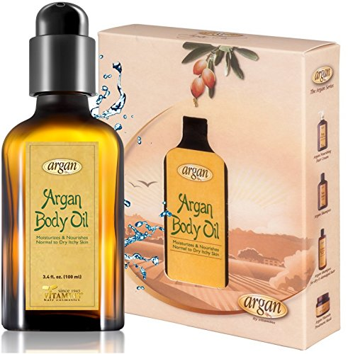 Body Oil for Dry Itchy Skin - Moroccan Argan Skin Care Solution to Soothe, Calm and Hydrate Normal to Sensitive Irritated Skin - Paraben, Alcohol & Sulfate Free