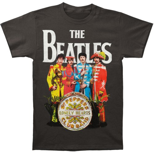 - The Beatles Sgt Peppers Lonely Hearts Club Band Men's T-Shirt - Grey (XX-Large)