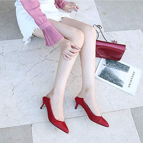 Escarpins 5 Rouge Red 36 Sobrisah pour Femme EU 7wZqxqAF4