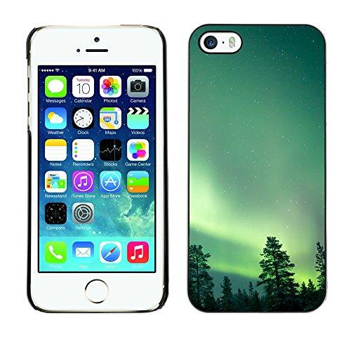 Hülle Case Schutzhülle Cover Premium Case // F00025261 Nacht Polarlichter // Apple iPhone 5 5S 5G