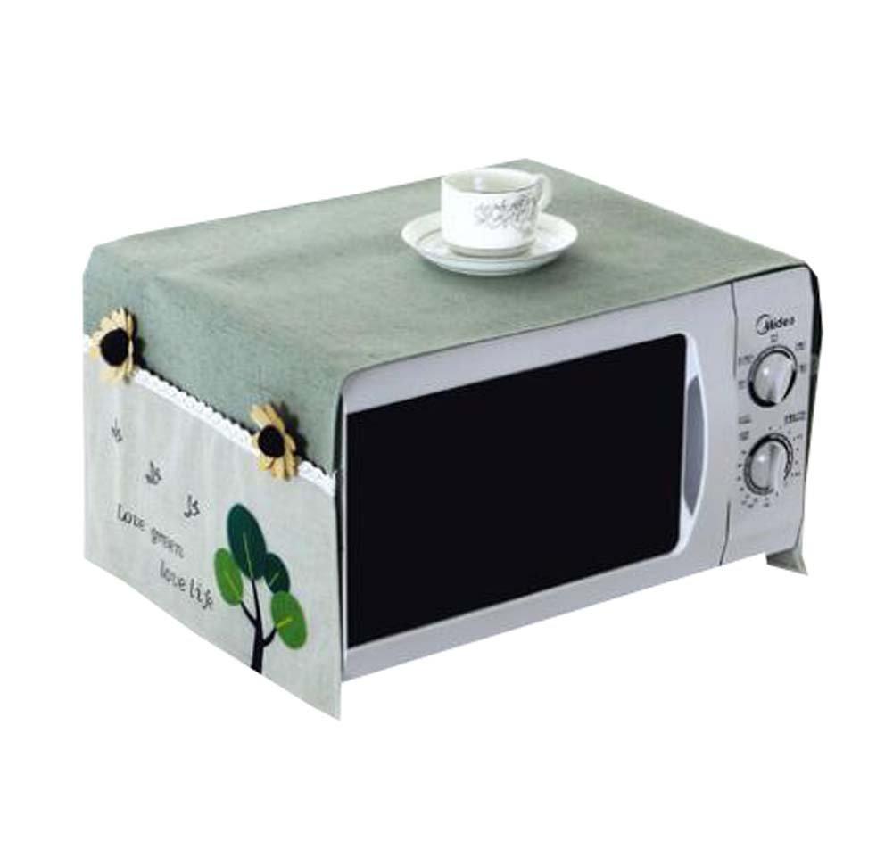 Black Temptation Pastoral Style Microwave Protect Hood Dust Cover Hood Waterproof Dustproof - A