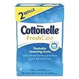 Kleenex Cottonelle Fresh Care Flushable Cleansing Cloths, White, 84 ct