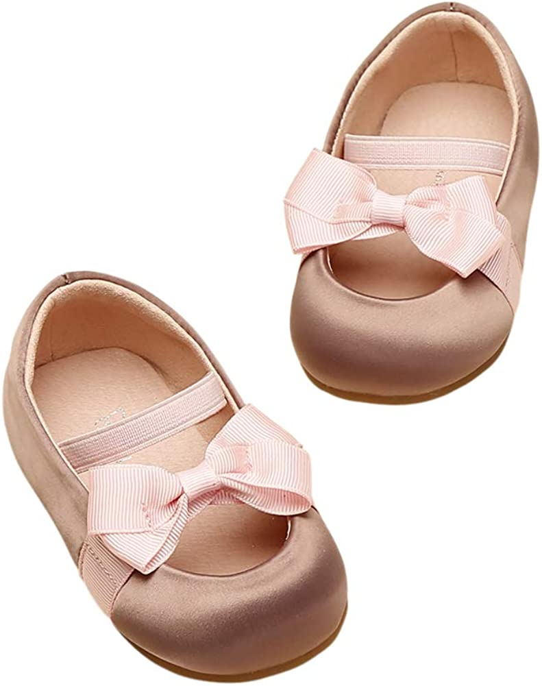 Baby Mary Jane Shoes Soft Sole Non-Slip Bowknot First Walking Shoes