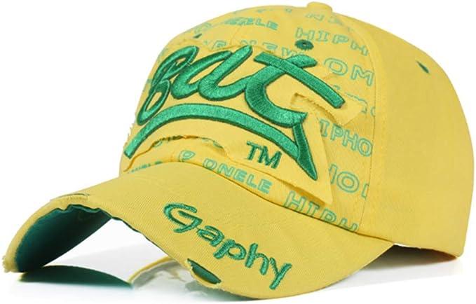 RNGUTC Gorra De Béisbol Amarilla Hombres Y Mujeres Gorras Adultos ...