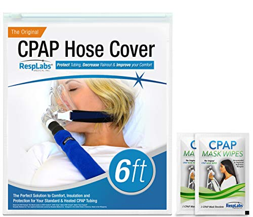 RespLabs CPAP Hose Cover - [6 Foot] Tube Wrap   Fleece Tubing Comfort with Zipper