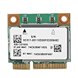 Pokerty Dual-Frequency Network Card, for Broadcom BCM94360HMB Azurewave AW-CB160H 1300Mbps 802.11ac + Bluetooth 4.0 Network Card