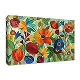 Tangletown Fine Art Summer Floral V Galería de lienzos, naranja / azul / verde