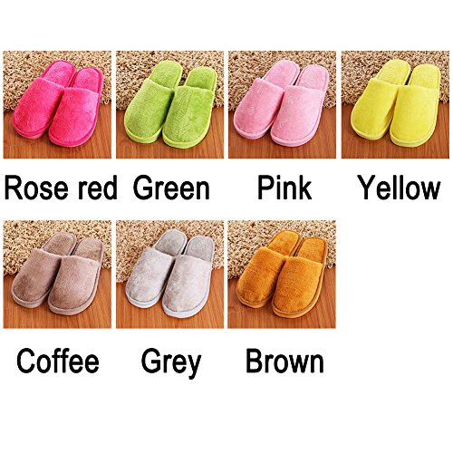 Shoes Woopower Indoor Winter Home Women Men Long Plush Cotton Slippers brown Male Slippers dTZwxYqZ