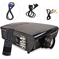 New MTN-G BEST HD Home Theater Multimedia LCD LED Projector 720-HDMI TV DVD Playstation