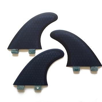 upsurf Tri de tablas de surf aletas fcs aletas de fibra de vidrio en forma de
